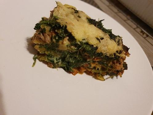 Spinazie-(vega)gehakt lasagne